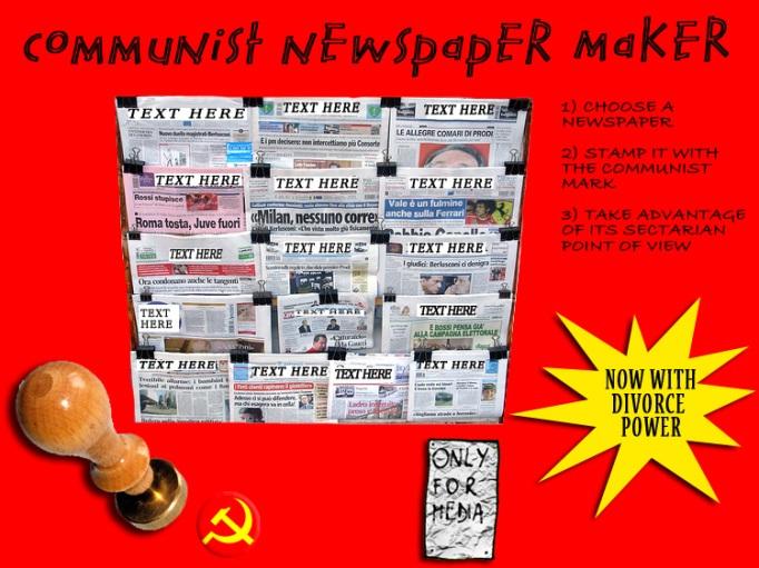 Communist newspaper maker