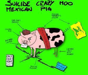 suicide crazy moo mexican pig