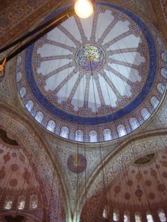 una moschea da dentro